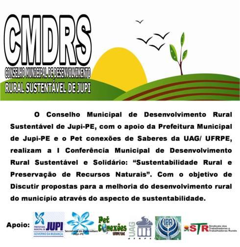 I Conferência Municipal de Desenvolvimento Rural Sustentável e Solidário